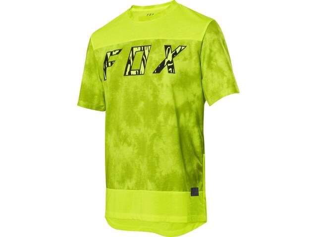 Fox Ranger Dri-Release Elevated Jersey Korte Mouwen Heren, day glow yellow